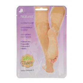 Šveičiamoji kojų kaukė - kojinės Naturel su AHA rūgštimis, žaliąja arbata ir vitaminu E, 20gx2