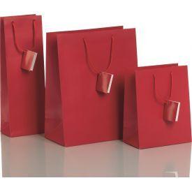 Dovanų maišelis ZOEWIE Uni Fashion Red (26.4x13.6x32.7 cm), 1 vnt.