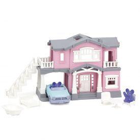 """Žaislų rinkinys """"Rožinis namas"""" GREEN TOYS ™ (10 dalių), 1 vnt."""