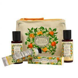 Rinkinys su apelsinų žiedais PANIER DES SENS (dušo gelis 50 ml, kūno losjonas 50 ml, rankų kremas 30 ml, tualetinis vanduo 3.5 ml), 1 vnt.