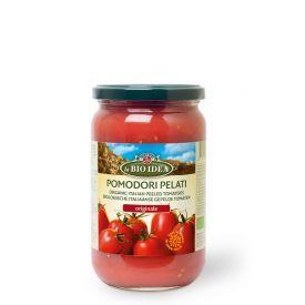 Ekologiški konservuoti lupti pomidorai LA BIO IDEA savo sultyse, 660 g