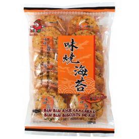Aštrūs ryžių krekeriai su jūros dumbliais BIN BIN, 135 g