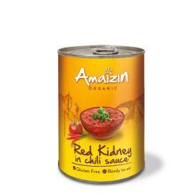 Ekologiškos konservuotos raudonos pupelės čili padaže AMAIZIN, 400 g
