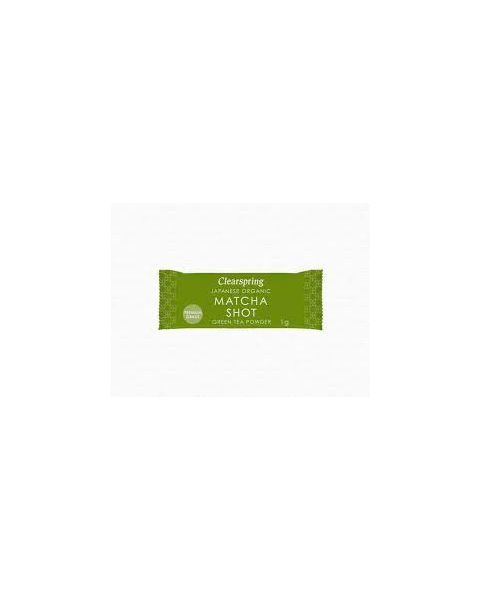 Ekologiški žaliosios arbatos milteliai MATCHA SHOT CLEARSPRING, 8*1g 2