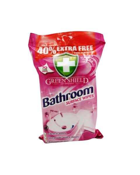 Servetėlės vonios kambariui valyti GREEN SHIELD, 70 vnt