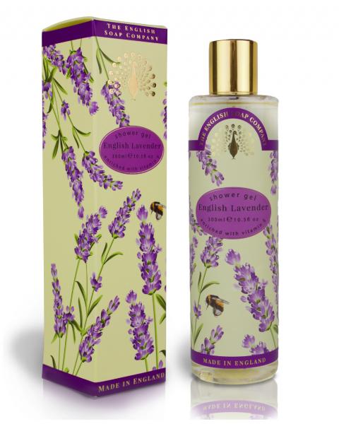 Dušo želė ENGLISH SOAP levandų aromato, 300 ml