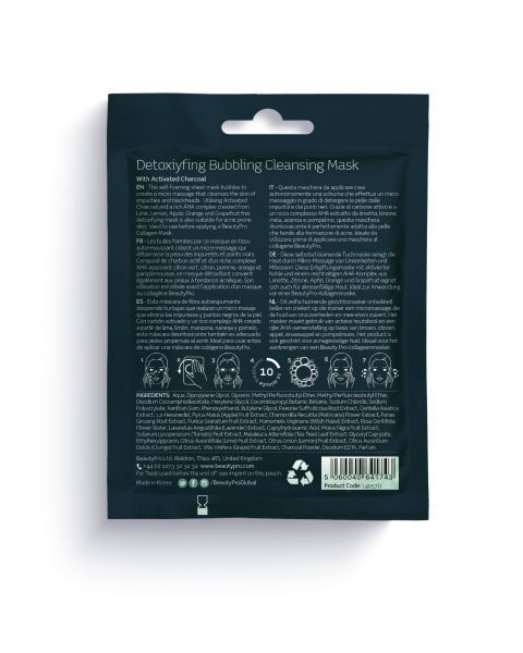 Putojanti kaukė BEAUTY PRO su aktyvinta anglimi, 20 ml 2