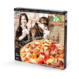Pica su vištiena ir šonine ITALPIZZA, 360g