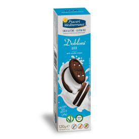 Sausainiai Dobloni Dark PIACERI MEDITERRANEI, be gliuteno, 120 g