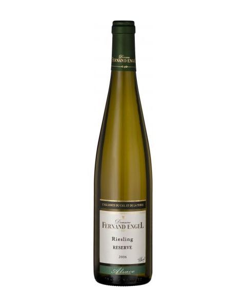 Ekologiškas baltas pusiau sausas vynas Fernand Engel Riesling Reserve Alsace 12,5%, 750ml