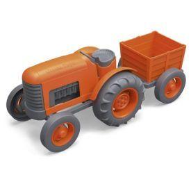Oranžinis traktorius GREEN TOYS ™, 1 vnt.