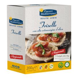 Duonelės Friselle PIACERI MEDITERRANEI, be gliuteno, 200 g