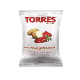 Bulvių traškučiai TORRES su rūkytos aitriosios paprikos skoniu, 150g