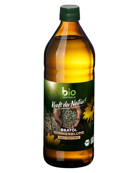 Ekologiškas saulėgrąžų aliejus kepimui BIOZENTRALE, 750 ml