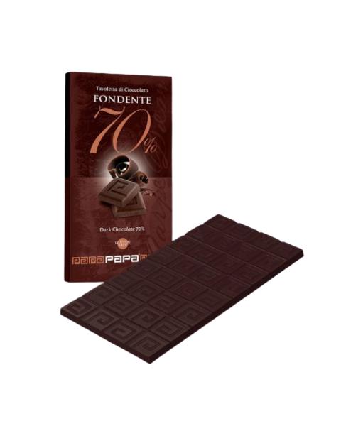 Juodasis šokoladas 70% PAPA, 90g