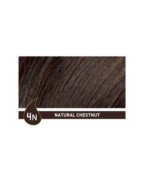 Plaukų dažai ilgalaikiai be amoniako 4N natūrali kaštoninė NATURTINT Naturally Better, 165 ml 2