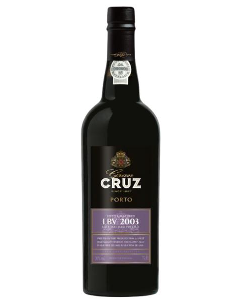 Raudonas vynas PORTO CRUZ LBV 2003 20%, 750 ml, saldus