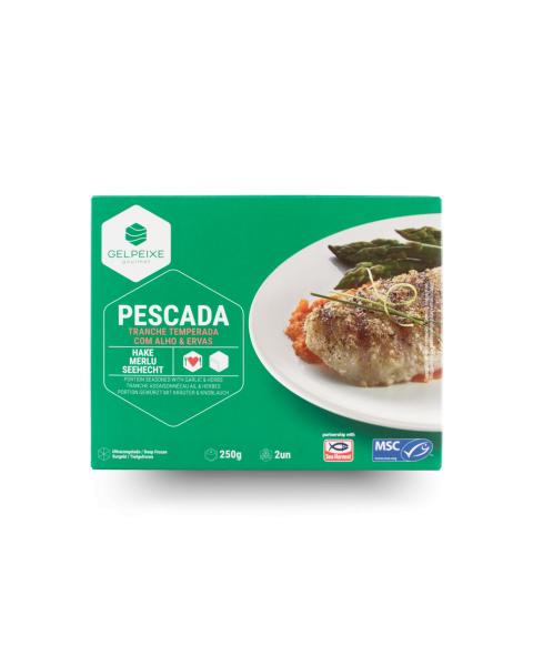 Jūrinės lydekos su česnakais ir prieskoninėmis žolelėmis porcijomis GELPEIXE, šaldytos, 250 g