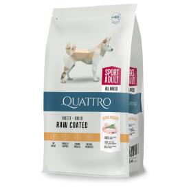 Sausas visų veislių suaugusių aktyvių šunų pašaras QUATTRO Extra poultry, 3kg