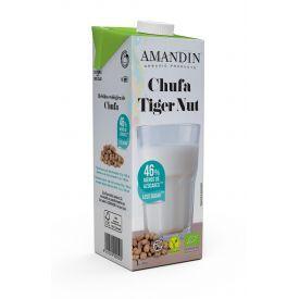 Ekologiškas Tigrinių riešutų gėrimas su agavų sirupu AMANDIN, 1L