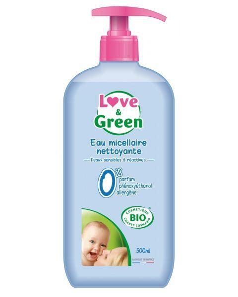 Ekologiškas micelinis vanduo kūdikių higienai LOVE&GREEN, 500 ml