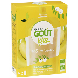 Ekologiška tyrelė GOOD GOUT bananų skonio, 4x90g
