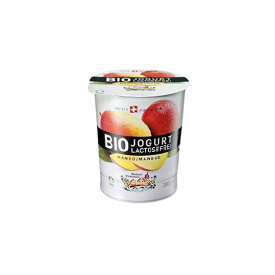 Ekologiškas jogurtas su mangais MOLKEREI, 3,5% rieb., be laktozės, 200g