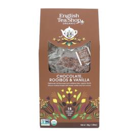Ekologiška arbata ENGLISH TEA SHOP Chocolate, Rooibos & Vanilla, 15 maišelių