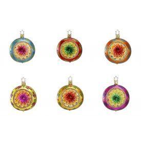 """Rankų darbo kalėdinis žaisliukas INGE-GLAS® """"Įvairių spalvų atspindžiai - burbulas"""", įvairių spalvų, 8 cm, 1 vnt."""