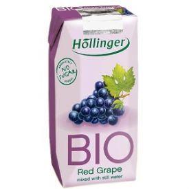 Ekologiškos raudonųjų vynuogių sultys HOLLINGER, 200ml