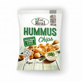 Humuso traškučiai EAT REAL, grietinės ir laiškinių česnakų skonio 45g
