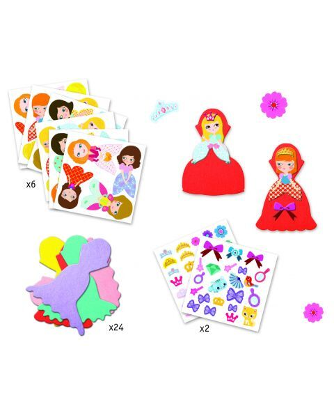 Kūrybinis lipdukų rinkinys DJECO I Love Princesses (DJ09053) 2