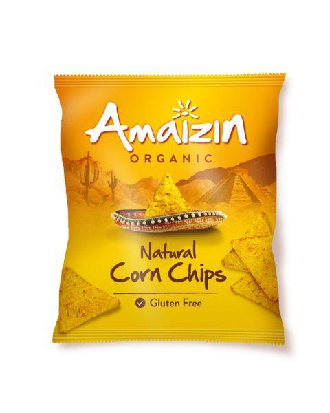 Ekologiški kukurūzų traškučiai AMAIZIN natūralūs, 250g