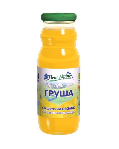 Ekologiškos švelnaus skonio kriaušių sultys kūdikiams nuo 4 mėn. FLEUR ALPINE, 200 ml