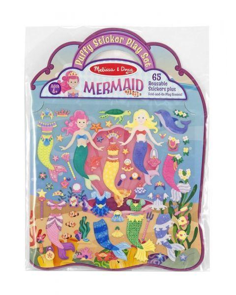 """Daugkartinio naudojimo lipdukų žaidimas MELISSA & DOUG """"Mermaid"""", 1 vnt."""