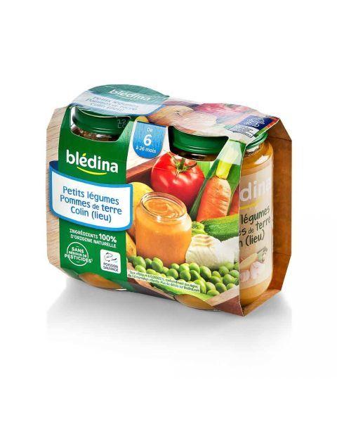 Tyrelė BLEDINA su menke ir daržovėmis nuo 6 mėn., 2x200 g