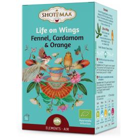 """Ekologiška arbata SHOTI MAA Elements """"Life on Wings"""" Fennel,Cardamom&Orange, 16 maišelių"""