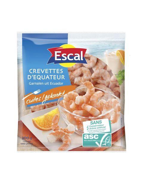 Baltakojės blyškiosios krevetės be kiauto, virtos 50/70 ESCAL , 300g