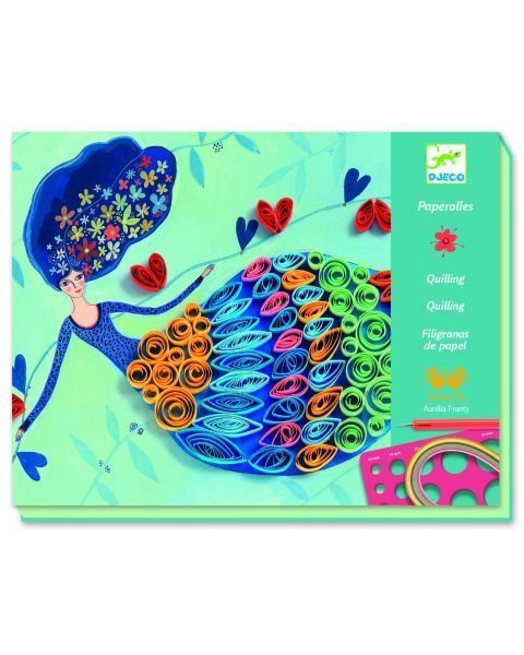 Kūrybinis rinkinys vyresniems vaikams DJECO Petticoat Scrolls (DJ08622)