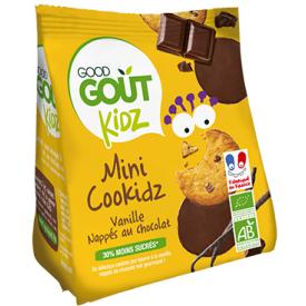 Ekologiški sausainiai GOOD GOUT Cookidz, su vanile, 115 g