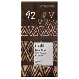 Ekologiškas juodasis šokoladas 92% VIVANI su kokosų žiedų cukrumi, 80 g