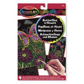 """Nutrinamų piešinių rinkinys MELISSA & DOUG """"Butterflies & Flowers"""", 1 vnt."""
