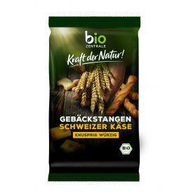 Ekologiškos duonos lazdelės su šveicarišku sūriu BIOZENTRALE, 100g