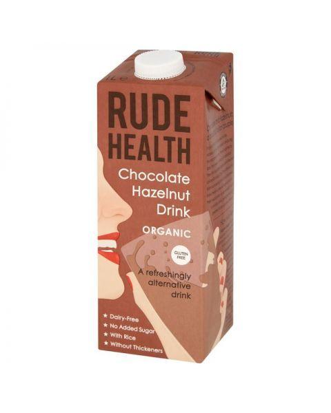 Ekologiškas šokolado ir lazdyno riešutų gėrimas RUDE HEALTH, 1L