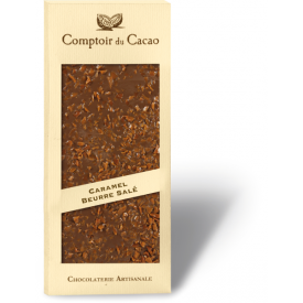 Pieninis šokoladas COMPTOIR du CACAO, su sūria karamele, 90 g
