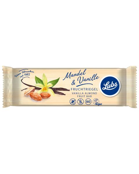 Ekologiškas vanilės ir migdolų vaisinis batonėlis LUBS, 40 g