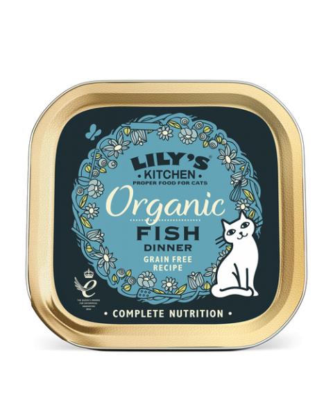 Konservai katėms LILY'S KITCHEN su ekologiška žuvimi, 85 g
