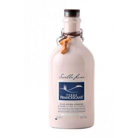 """Ypač tyras alyvuogių aliejus TERRE FRANCESCANE """"Sorella Luna"""" šalto spaudimo keramikiniame butelyje, 500 ml"""