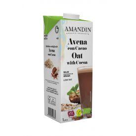 Ekologiškas avižų gėrimas su kakava AMANDIN, 1L