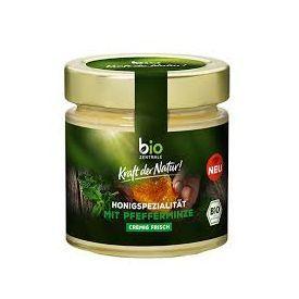 Ekologiškas žiedų medus BIOZENTRALE su pipirmėte, 250 g